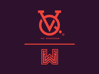 """VQ"" Monogram // by WisamPlayz simple vq monogram minimal logo letters exploration clean branding"