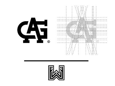 """AG"" Monogram // by WIsamPlayz ag simple monogram minimal logo letters exploration clean branding"