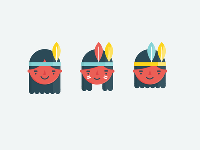 Native americans illustrations native americans indians headband feather