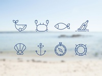 Sea icon set - 1