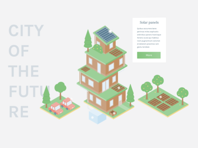 Creative Hours - City of the future city green city of the future illustration isometric affinity