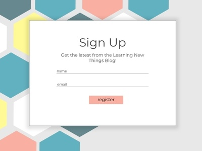 Sign Up Page register hexagons signup 001 dailyui