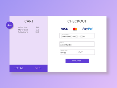 Credit Card Form credit card form checkout 002 dailyui