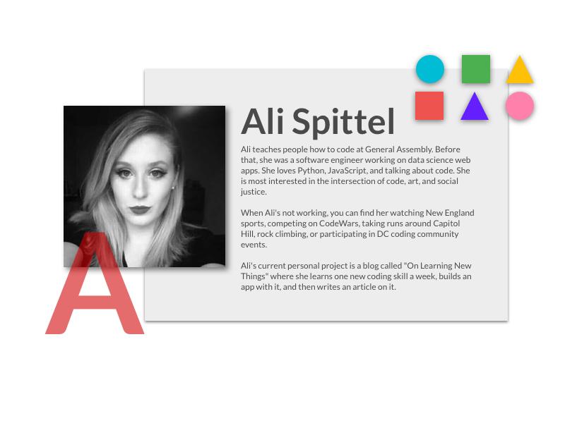 Profile by Ali Spittel on Dribbble