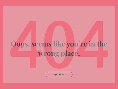 404 Page layered notfound red 404 dailyui dailyui008