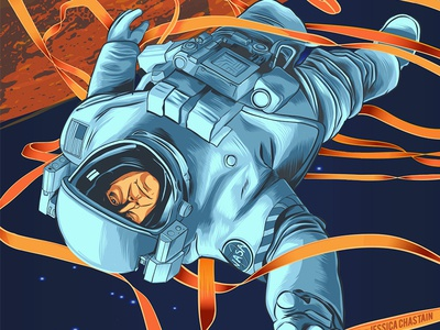 The Martian illustration space vector art movie illustration the martian