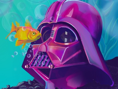 Some Procreate fun. fish ocean film art movie art procreate digital painting darth vader star wars