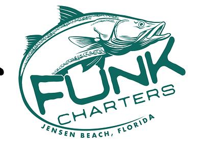 Funk Charters digital drawing illustration vector branding logo fishing logo fish