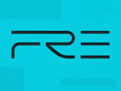 FRE | Florida Renewable Energy contemporary modern logotype logo branding energy renewable flordia