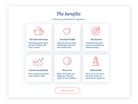 Benefits Page design | icon design