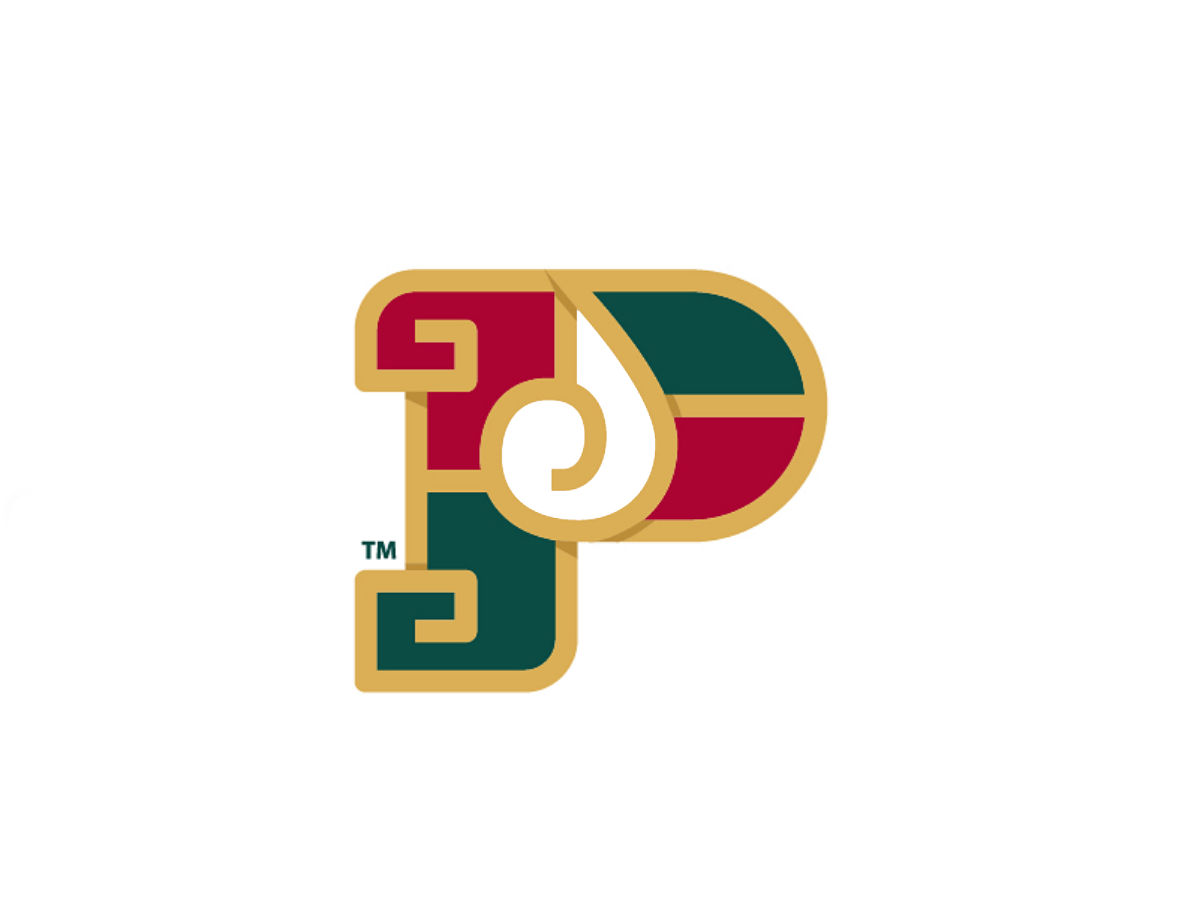 Pinaesa   logo   Letter   monogram monogram logotype colorized brand mark logo p letter