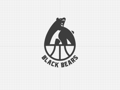 Black Bears Basketball Team Logo