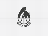 Black Bears Basketball Team Logo
