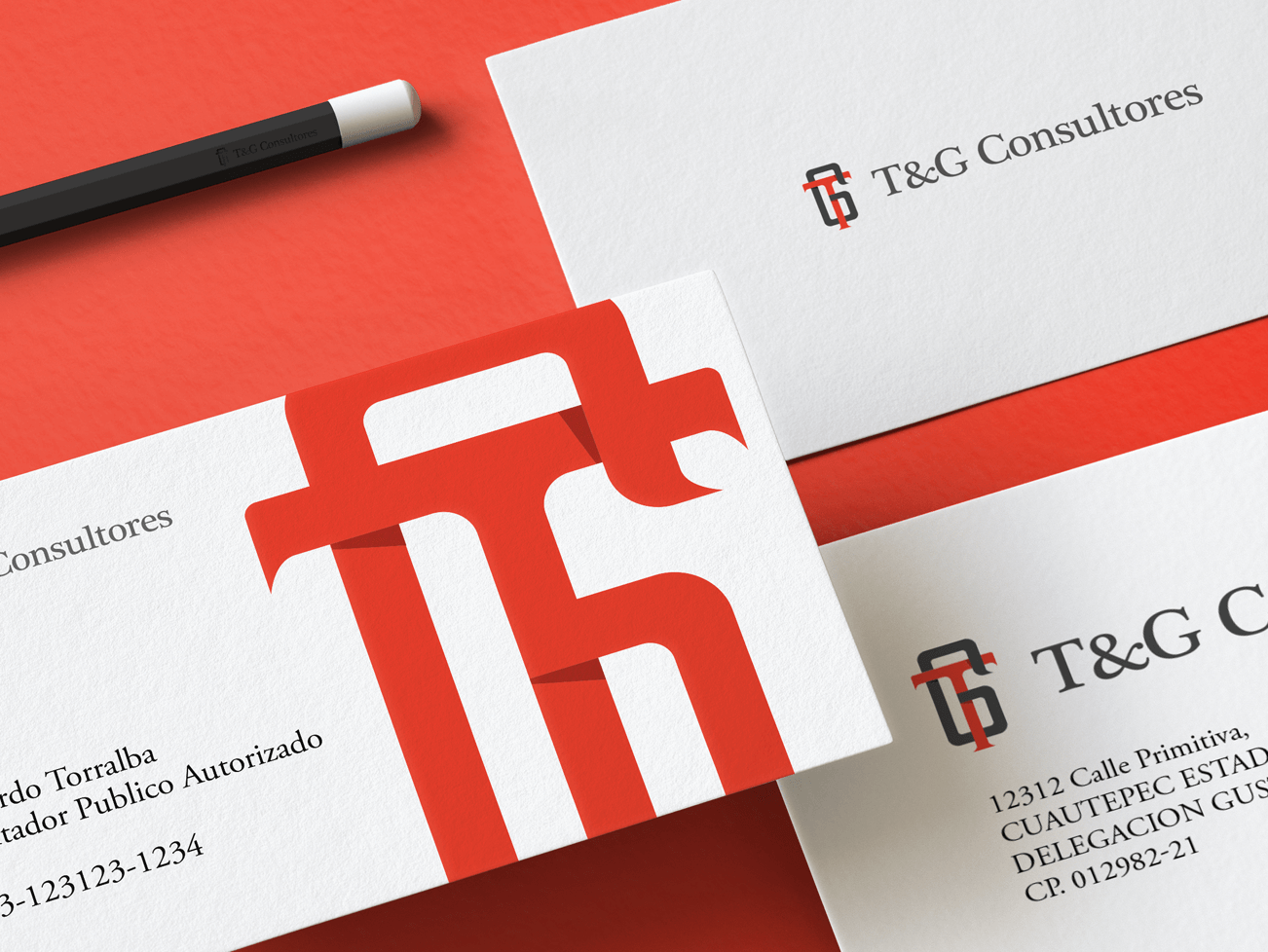 T&G Consultores | Accounting Firm | Branding and Logo branding design e49creative collateral mark minimal serif monogram logo brand branding