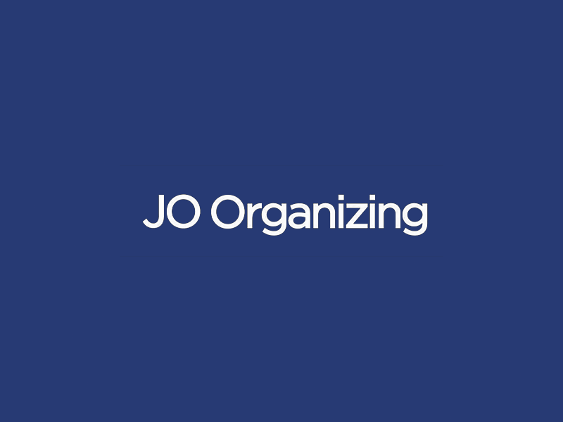 JO Organizing wordmark simple minimal organizing organizer logotype wordmark mark logo