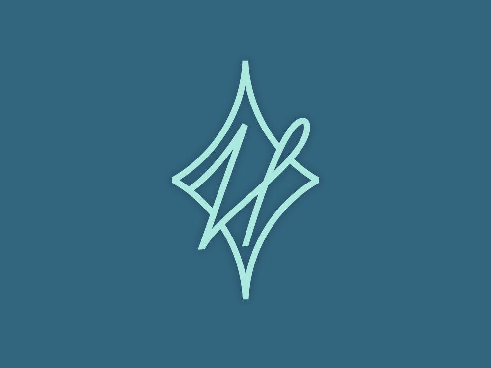 H | Helene | Monogram | logosymbol brand script diamond h monogram letter mark monogram logosymbol