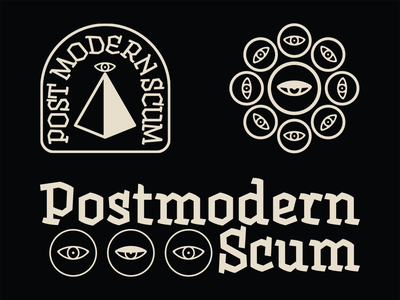Postmodern Scum graphic design logo branding