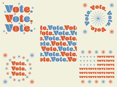 Vote! design graphic design vote print