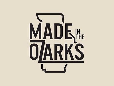 Made in the Ozarks: Logo vector branding design logo