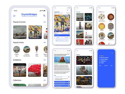 Crystal Bridges — App Design app app design mobile figma ux ui design