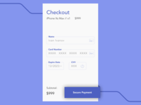 Daily UI #002 Checkout Screen
