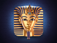 Tutankhamun Mask Icon