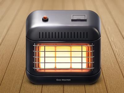 Gas Heater Ios Icon