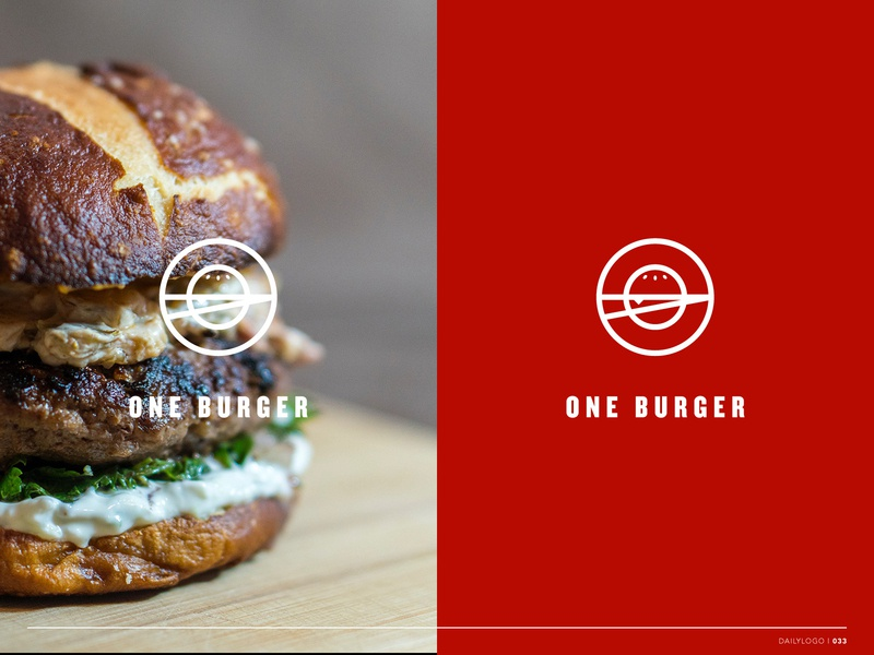Daily Logo Day 33 one burger burger logo burgers typography icon daily vector daily logo daily challenge identity design dailylogochallenge design logo branding branding identity logo design