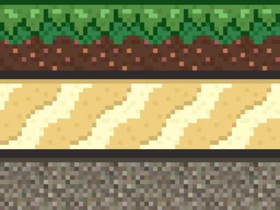 #Octobit - Grass, Sand, Gravel Tiles
