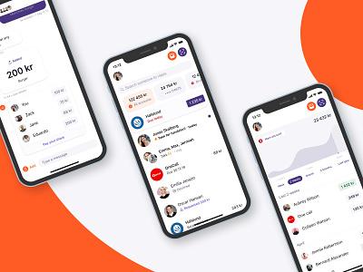 Social finance social finance fintech flat ux ui design app