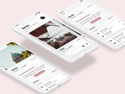Travel planner planner travel social ux ui design app