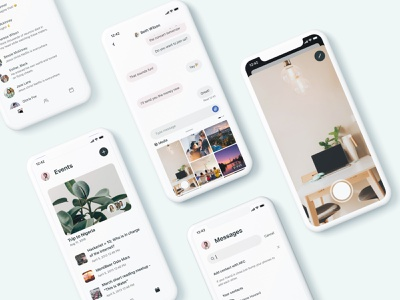 closer - messages for friends planner minimal flat branding ux ui design app social messages