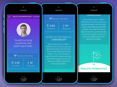 Prolific Welcome App ios7 mobile ux ui beacon beacons ibeacons iphone hack prolific