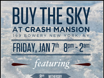 Buy The Sky gig poster poster band nyc gotham tungsten typography