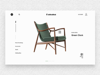 Furniture website interface design