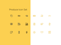 Produce Icon Set