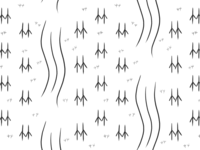 Chinese Characters Pattern Illustration - 竹川