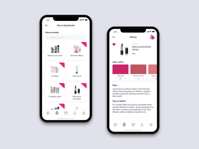 MK app concept - product order by Martin Marusak on Dribbble