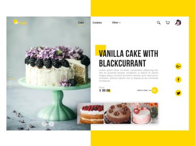 UI Design For Web Cake Shop