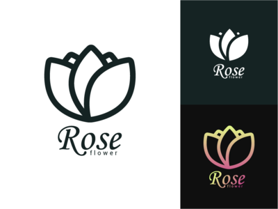 Flower Logo For Shop Or Company
