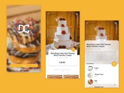 Cake App Ui Design