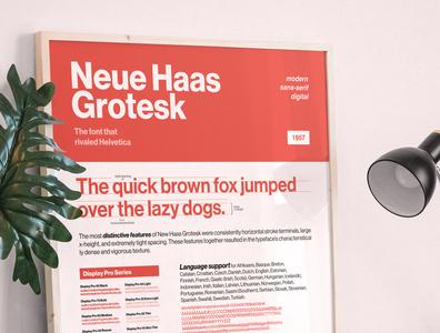 Neue Haas Grotesk - Type Specimen Sheet