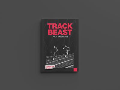 TrackBeast Zine Cover grunge design shoes running trackbeast layout zine