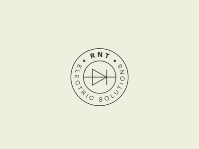 RNT Electric Solutions minimalistic minimal thin lines modern electricity solutions electric rnt