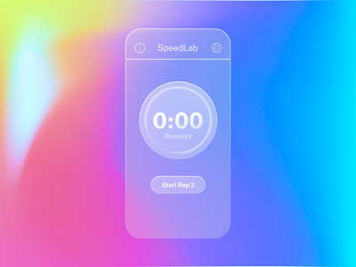 SpeedLab on Glass wokrout athlete timing timer userinterface ui newmorphic glassmorphism glass