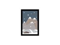 """Wintertime"" Flat Illustration"
