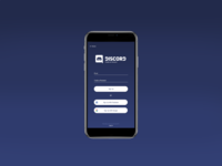 Discord Mobile Signup Page