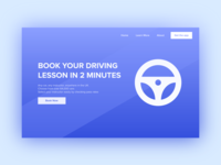 Driving Lesson Landing Page - Daily UI #003