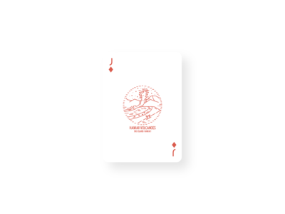 Hawaii Volanoes Vintage Card Design