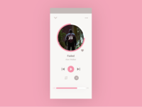 Pink Music Player UI - Daily UI #009